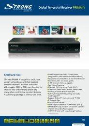 STRG Digital Terrestrial Receiver PRIMA lV - STRONG Digital TV