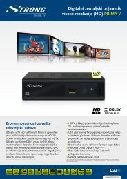 PRIMA V - STRONG Digital TV