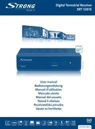 Digital Terrestrial Receiver SRT 5301E - STRONG Digital TV