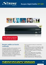 Receptor Digital Satélite SRT 6201 - STRONG Digital TV