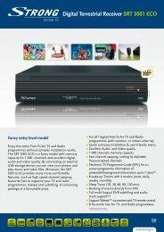 S7-R6 Digital Terrestrial Receiver SRT 5001 ECO - STRONG Digital ...
