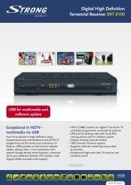 Digital High Definition Terrestrial Receiver SRT 8100 - STRONG ...