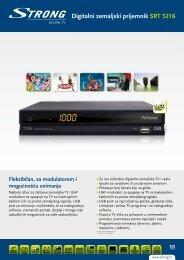 Digitalni zemaljski prijemnik SRT 5216 - STRONG Digital TV