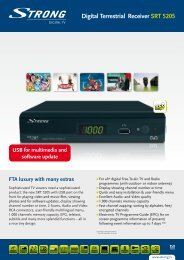 Digital Terrestrial Receiver SRT 5205 - STRONG Digital TV
