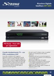 Ricevitore Digitale Satellitare SRT 6205 - STRONG Digital TV