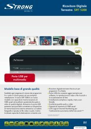 Ricevitore Digitale Terrestre SRT 5200 - STRONG Digital TV