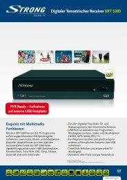 Digitaler Terrestrischer Receiver SRT 5203 - STRONG Digital TV