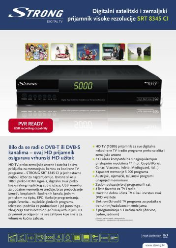 PVR READY - STRONG Digital TV