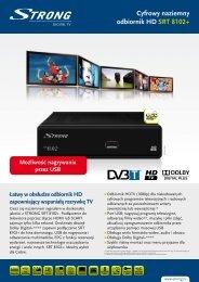 Cyfrowy naziemny odbiornik HD SRT 8102+ - STRONG Digital TV