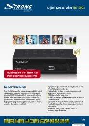 Dijital Karasal Alıcı SRT 5003 - STRONG Digital TV
