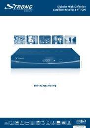 Bedienungsanleitung - STRONG Digital TV