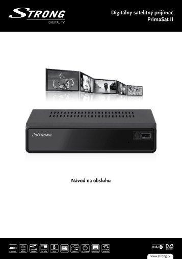 Digitálny satelitný prijímač PrimaSat II - STRONG Digital TV