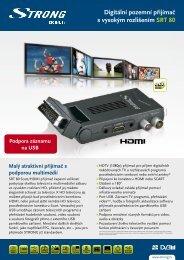 Digitální pozemní přijímač s vysokým rozlišením SRT 80 - STRONG ...