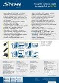 Receptor Terrestre Digital de Alta Definição SRT 80 - STRONG ... - Page 2