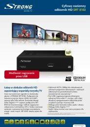 Cyfrowy naziemny odbiornik HD SRT 8102 - STRONG Digital TV