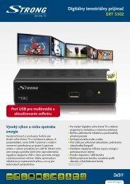Digitálny terestriálny prijímač SRT 5302 - STRONG Digital TV