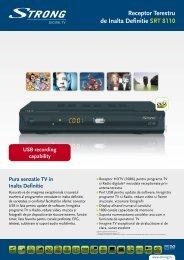 Receptor Terestru de Inalta Definitie SRT 8110 - STRONG Digital TV