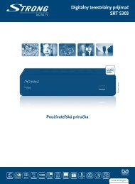 Digitálny terestriálny prijímač SRT 5303 - STRONG Digital TV