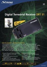 Digital Terrestrial Receiver S RT 51 - STRONG Digital TV