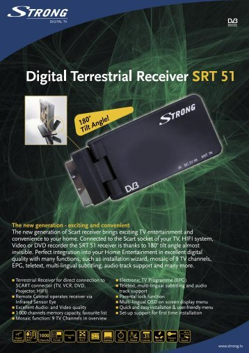 Digital Terrestrial Receiver S RT 51 - STRONG Digital TV