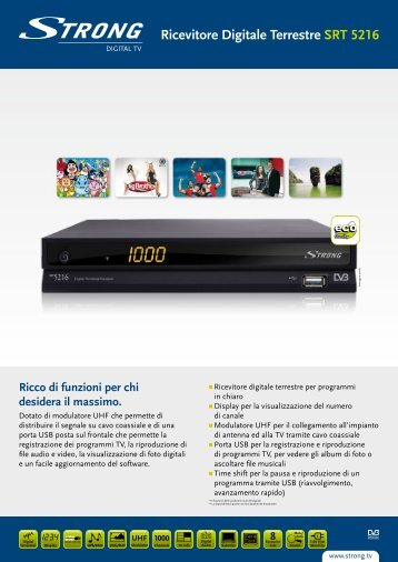 Ricevitore Digitale Terrestre SRT 5216 - STRONG Digital TV