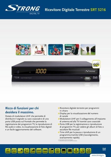 Ricevitore Digitale Terrestre SRT 5216 - STRONG Digital TV