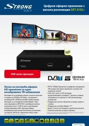 SRT 8102+ - STRONG Digital TV