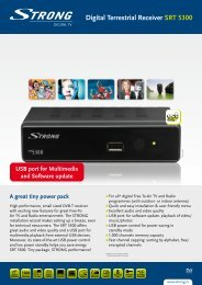 Digital Terrestrial Receiver SRT 5300 - STRONG Digital TV