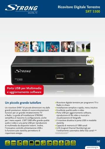 Ricevitore Digitale Terrestre SRT 5300 - STRONG Digital TV