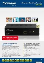 Récepteur Numérique Terrestre SRT 5300 - STRONG Digital TV