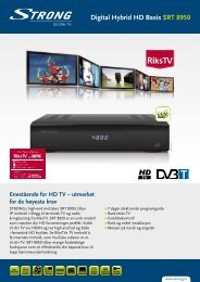 Digital Hybrid HD Basis SRT 8950 - STRONG Digital TV