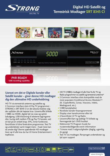 PVR READY - STRONG Digital TV