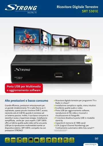 Ricevitore Digitale Terrestre SRT 5301E - STRONG Digital TV