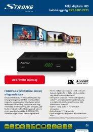 Földi digitális HD beltéri egység SRT 8105 ECO - STRONG Digital TV