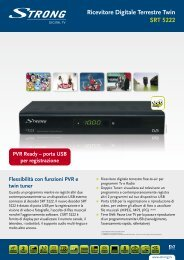 Ricevitore Digitale Terrestre Twin SRT 5222 - STRONG Digital TV