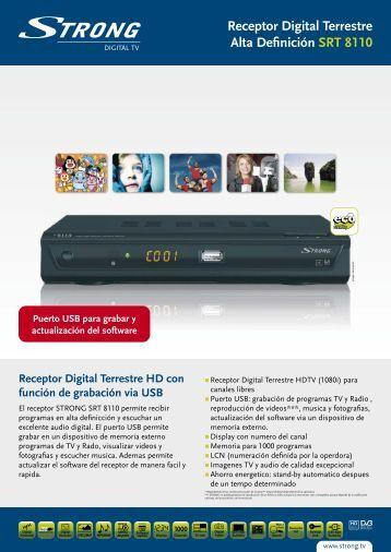 Receptor Digital Terrestre Alta Definición SRT 8110 - STRONG ...