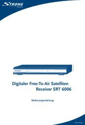 Digitaler Free-To-Air Satelliten Receiver SRT 6006 - STRONG ...