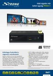 Földi digitális HD beltéri egység PRIMA V - STRONG Digital TV