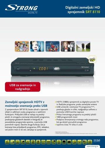 Digitalni zemeljski HD sprejemnik SRT 8110 - STRONG Digital TV