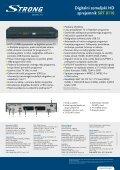 Digitalni zemeljski HD sprejemnik SRT 8110 - STRONG Digital TV - Page 2