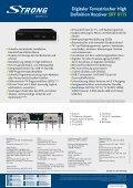 Digitaler Terrestrischer High Definition Receiver SRT 8115 - Strong.tv - Page 2