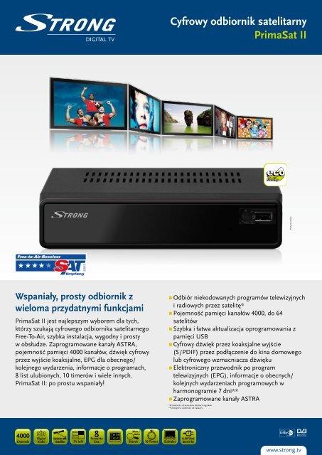 Cyfrowy odbiornik satelitarny PrimaSat II - STRONG Digital TV