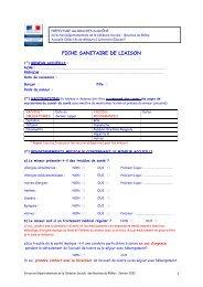 FICHE SANITAIRE DE LIAISON - Triathl'Aix