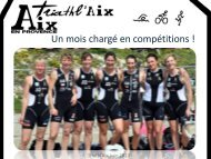 Newsletter du mois de juin 2013 - Triathl'Aix