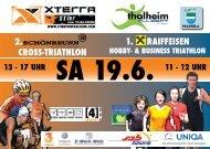 Ausschreibung - Österreichischer Triathlonverband