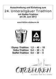 Ausschreibung - Unterallgäuer Triathlon