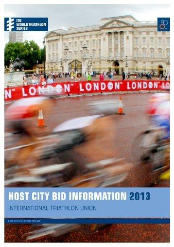 Host city bid information 2013 - triathlo - International Triathlon Union