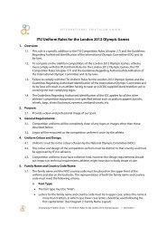 ITU Uniform Rules for the London 2012 Olympic Games