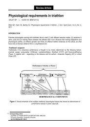 Physiological requirements in triathlon - International Triathlon Union