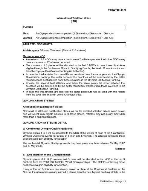 ITU - International Triathlon Union